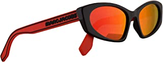 Marc Jacobs Marc 356/S Sunglasses Black w/Red Rubber Temples & Red Mirror Lens 54mm C9AUZ Marc 356S Marc356S Marc356/s
