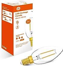 GE SES Live Candle LED Bulb, 470 Lumen 4 Wattage, Warm White