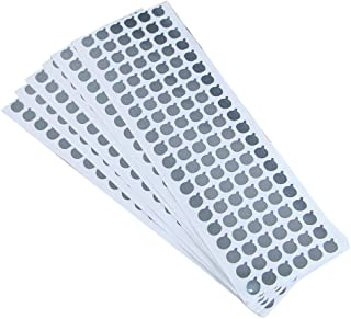 6 Sheets (720Pcs) 9mm Diameter Aluminum Foil Film Sticker Seal Pure Aluminium Foil Film Sealing Sticker Bottles Stopper Sealing Sticker for Toothpaste Cosmetic Soft Tube