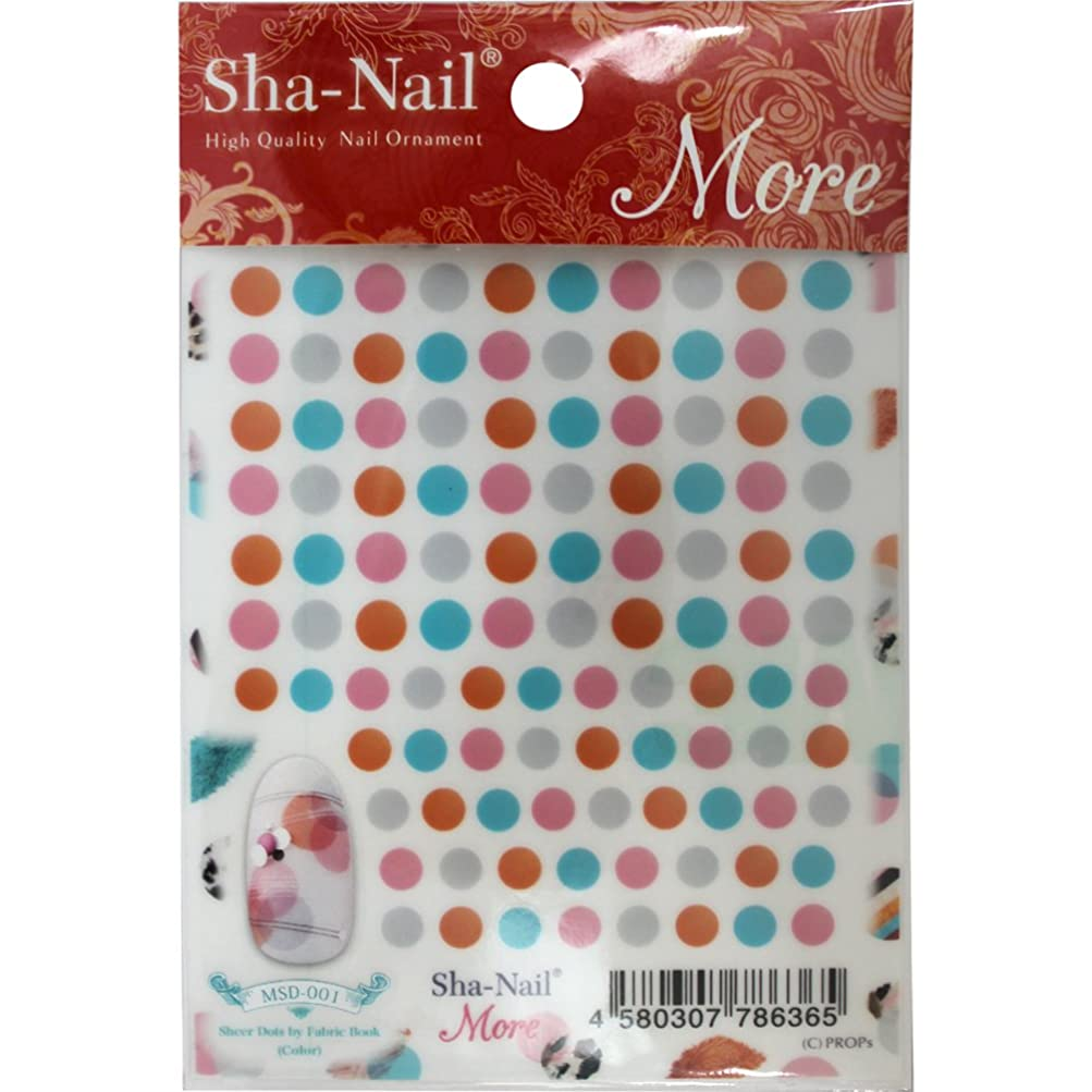 荒涼としたしっとり巧みなSha-Nail More ネイルシール シアードット(カラー) MSD-001 アート材