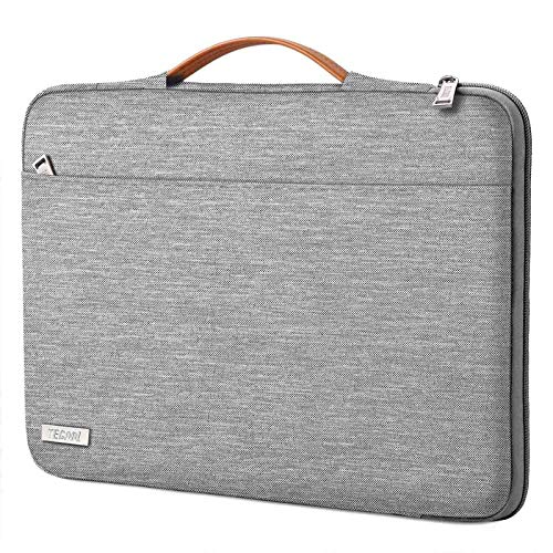 TECOOL Laptop Case Sleeve Carry Bag for MacBook Air/Pro 13 Inch, 13.5 Surface Laptop 2/3, 14 Inch Huawei MateBook D 14, ASUS Zenbook/Vivobook 14 Cover with Retractable Handle, Grey