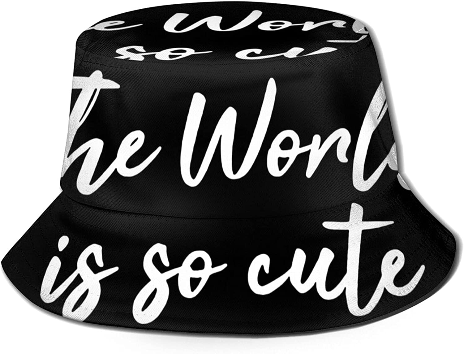 The World is So Cute Bucket Summer Sun Hat Max Al sold out. 85% OFF Packable F Unisex