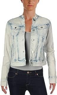 LAUREN RALPH LAUREN Womens Allysa Faded Button Down Denim Jacket