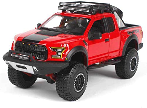 a precios asequibles GAOQUN-TOY 1 24 Original simulación simulación simulación de aleación Modelo de Coche Coche 2017 Ford F-150 Raptor Pickup Modelo (Color   rojo, Tamaño   25cm11cm10cm)  mas preferencial