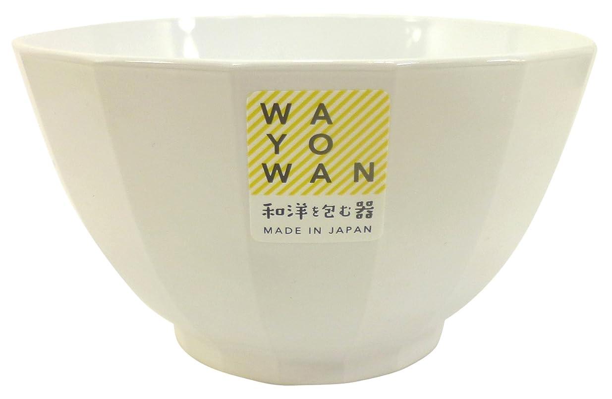 探偵気候の山地図アサヒ興洋 日本製 WAYOWAN 手になじむうつわ スグ型 大椀 ホワイト 12.4×12.4×7cm AZ16-51