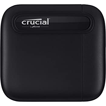 Crucial X6 2TB Portable SSD – Up to 540MB/s – USB 3.2 – External Solid State Drive, USB-C - CT2000X6SSD9