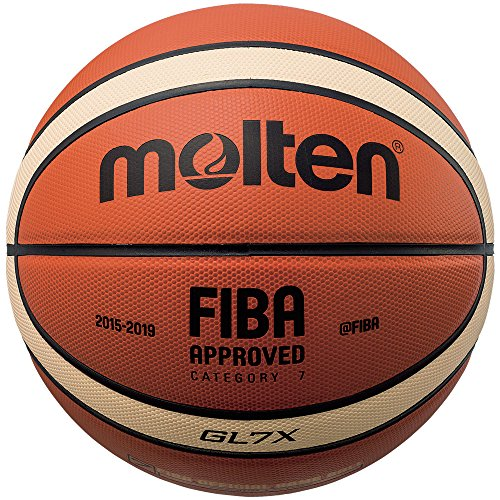 Molten Leder-Basketball, orange/Hellbraun, Größe 6, Modell: BGL6X