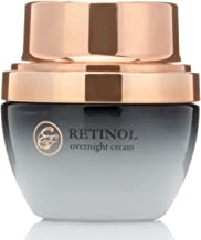 Eva St. Claire Retinol Night Cream. Anti-aging cream with Retinol, Hyaluronic Acid, Shea Butter special herbal blend of ingredients reduces the look of wrinkles and age spots! 1 fl oz (30ml)