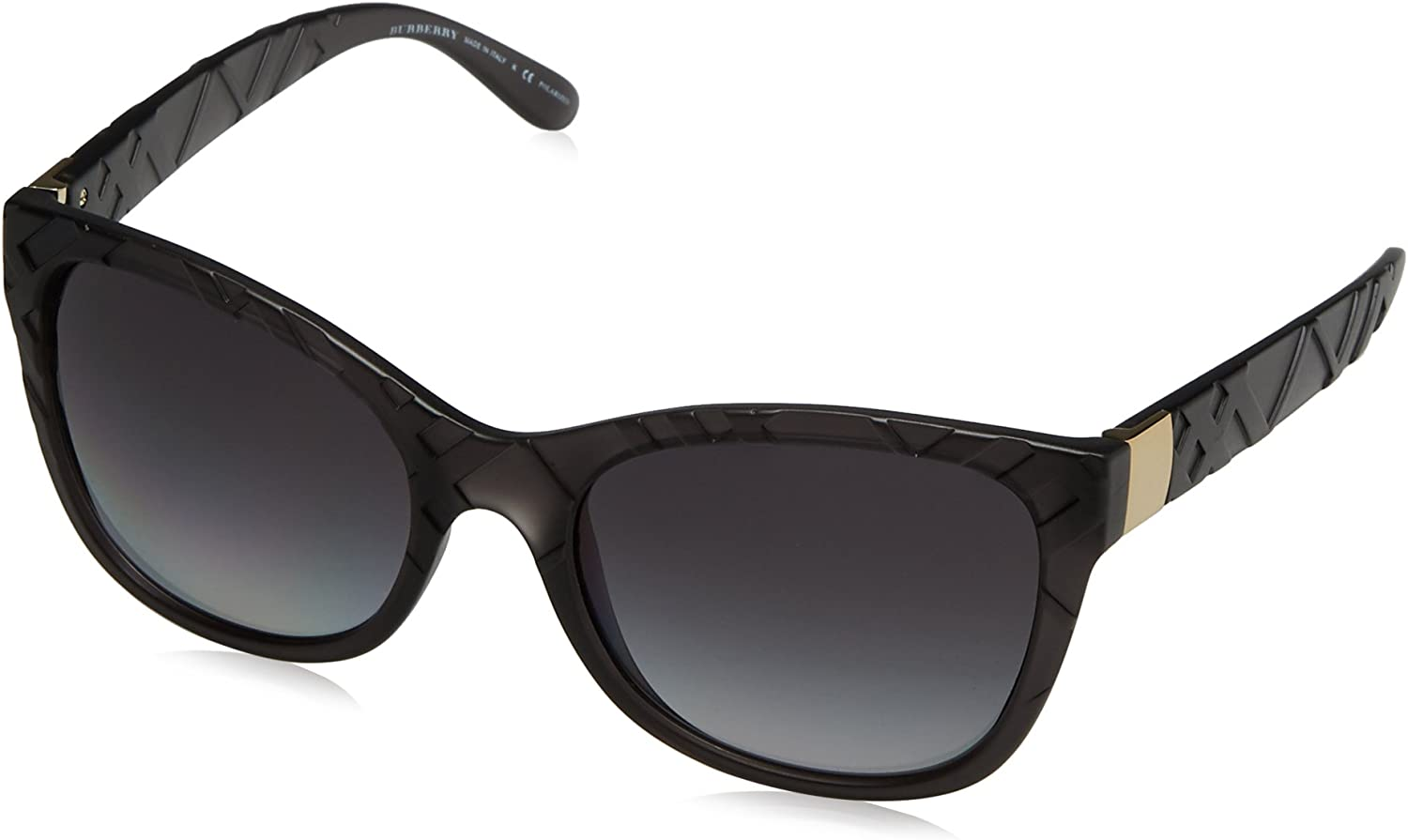 Burberry BE4219 3581T3 Matte Grey BE4219 Cats Eyes Sunglasses Polarised Lens Ca
