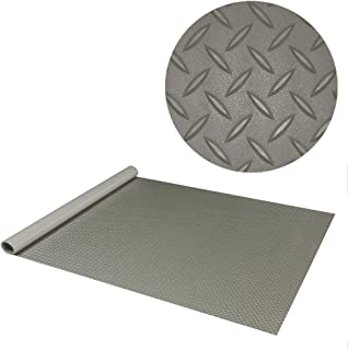 RoughTex Diamond Deck 85717 Pewter Textured Roll Out Garage Floor Mat, Various Sizes Available