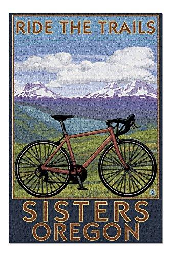 Sisters, Oregon - Mountain Bike 42321 (19x27 Premium 1000 Piece Jigsaw Puzzle for Adults)