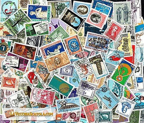 LaVecchiaScatola.com 100 Francobolli Repubblica commemorativi usati