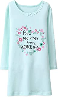 Image of Long Sleeve Big Dreams Floral Nightshirt for Girls - See More Colors & Designs