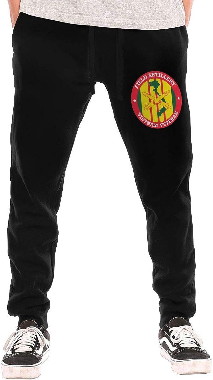 HUDIDEAR Field Artilley Vietnam Veteran Mens Fit Joggers Jersey Sweatpants for Gym Training