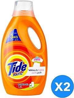 Tide Automatic Whites & Colors Power Gel Detergent - Pack of 2-Pieces (2 x 1.8L)