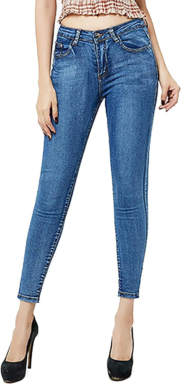 Women Skinny Jeans Classic Slim Denim Comfy Mid Rise Stretch Butt Lift Boyfriend Legging Pants