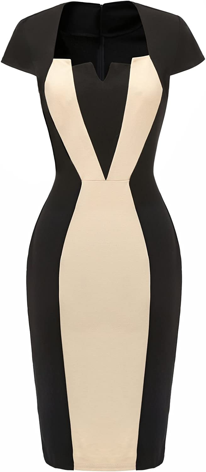 Avril Dress Stunning colorblock Mother of The Bride Dress Party Bodycon Dresses Knee Length with Short Sleeves