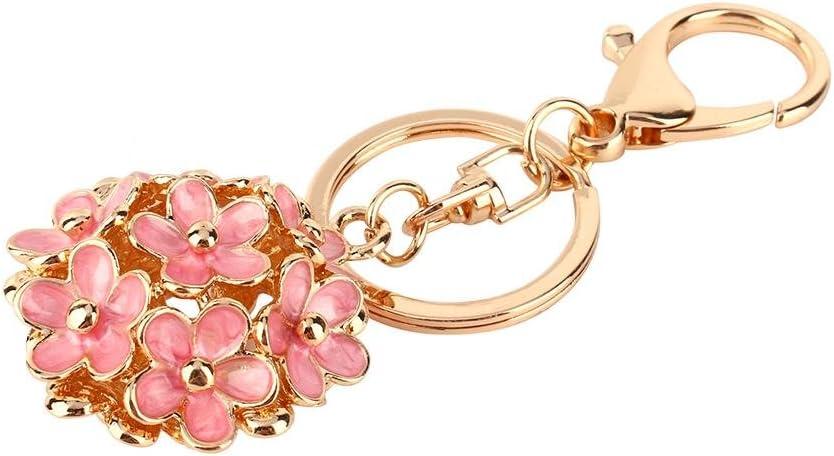HEEPDD Keychain, Crystal Rhinestone Flower Keyring Charm Pendant Purse Bag Key Chain Keychain