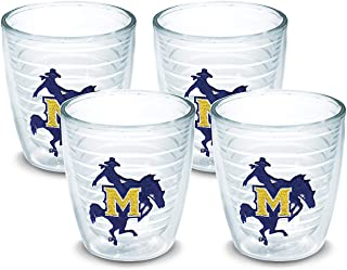 Tervis 1007879 McNeese State Cowboys Logo Tumbler with Emblem 4 Pack 12oz, Clear