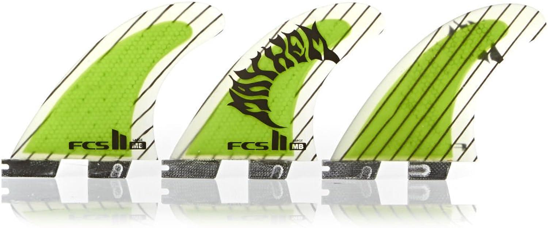 FCS II MB Performance Core Carbon Surfboard Tri Fin Set  Large