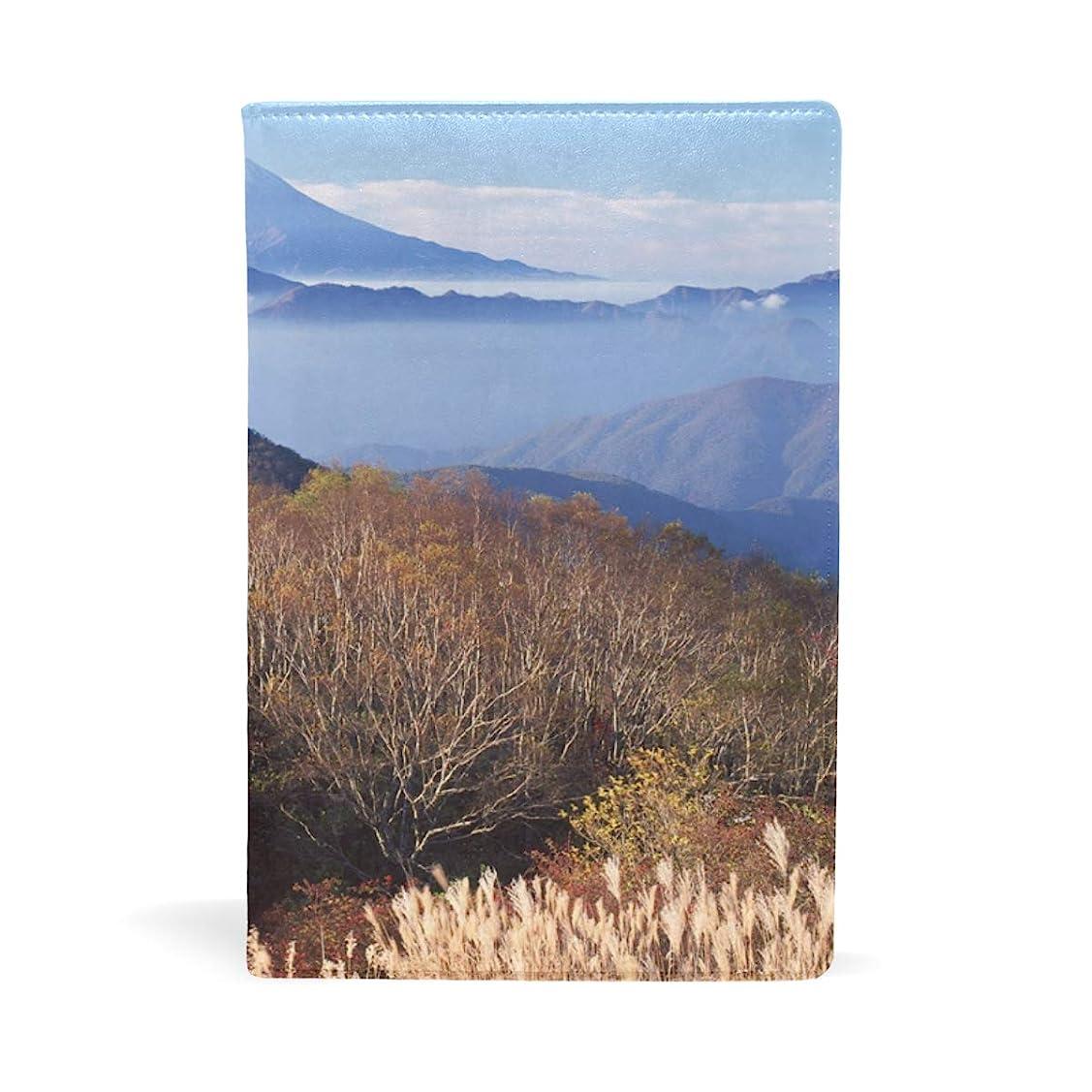 セラー可愛い観光富士山雲海 ブックカバー 文庫 a5 皮革 おしゃれ 文庫本カバー 資料 収納入れ オフィス用品 読書 雑貨 プレゼント耐久性に優れ