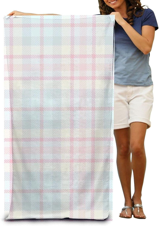 YAMADEI Super Soft Luxury New life Bath goods Towel Blue Absorb Grid Pink