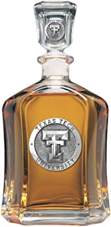 Texas Tech Red Raiders Glass Capitol Decanter (Spirit Holder) 24 oz - NCAA College Athletics