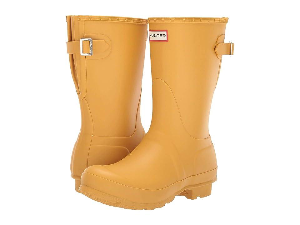 Hunter Original Short Back Adjustable Rain Boots (Fennel Seed) Women