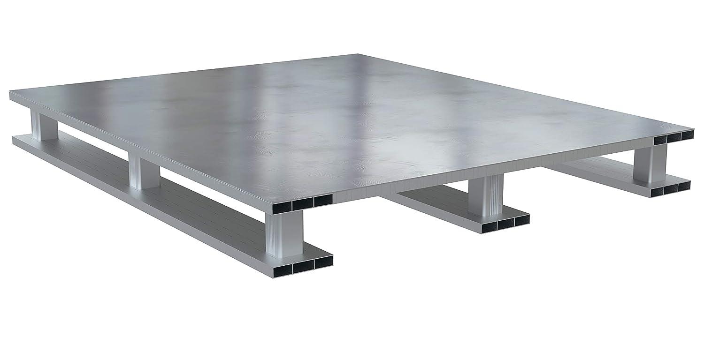 Vestil Heavy Duty Aluminum Pallet Solid Top Skid 40X48 Omaha Mall 2021 model Bottom