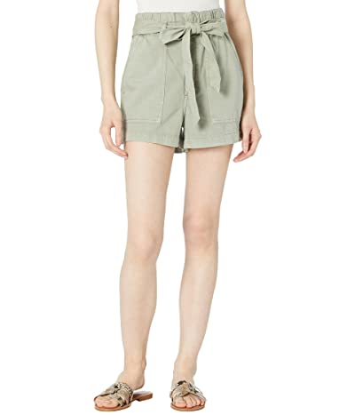 AG Adriano Goldschmied Paperbag Kai High-Rise Fatigue Shorts in Sulfur Natural Agave