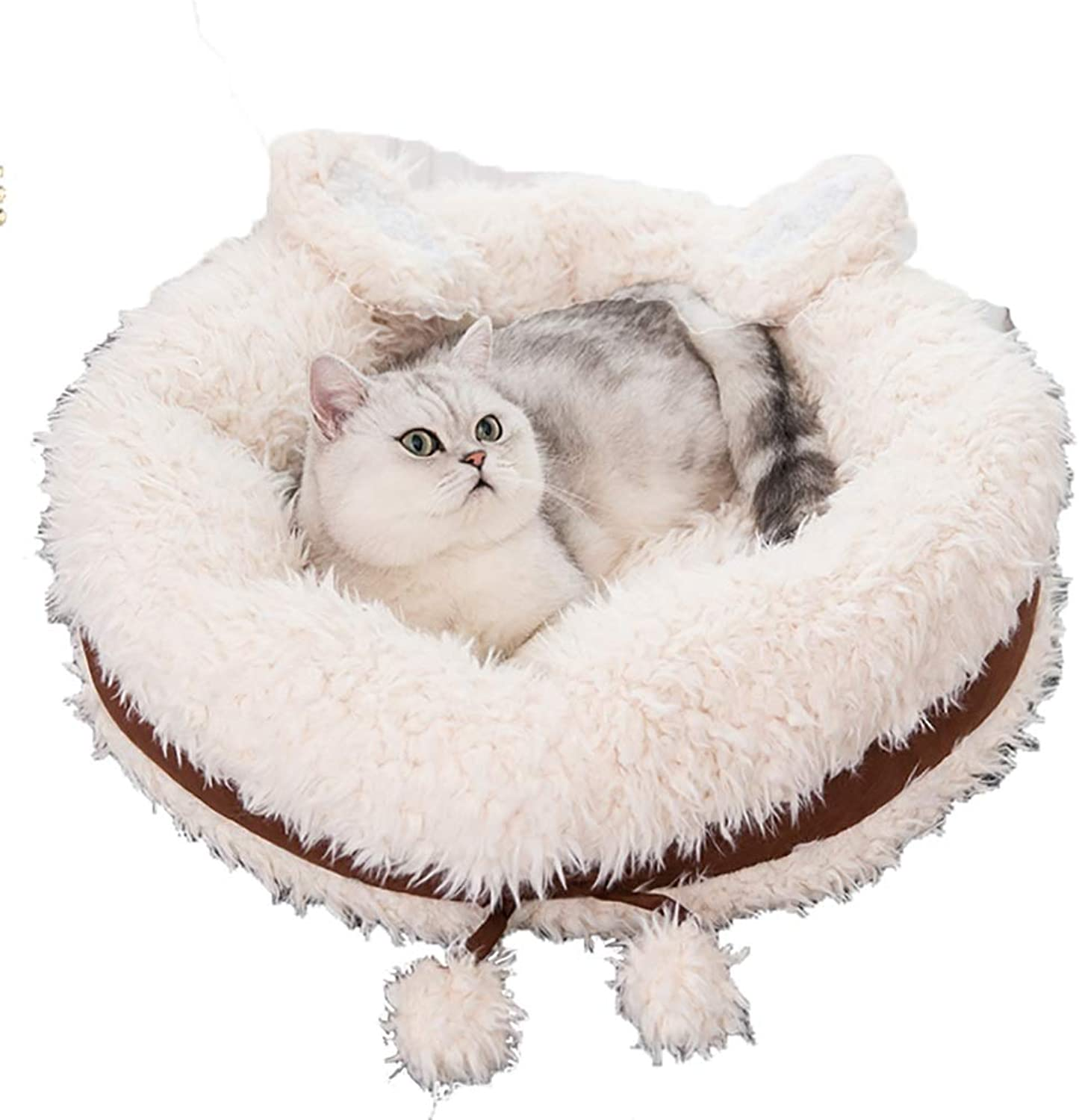 Pet Supplies Pet house kennel Cat nest Small dog pet nest pet bed safe comfort Four seasons available (color   C, Size   55  15)