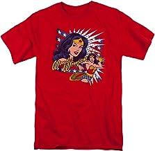 DC Comics Pop Art Online pregunto Mens Camisa Manga Corta (Rojo, XXXX-Grande)