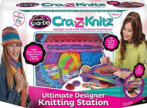CRA-Z-Knitz Knitting Station Neon Deluxe