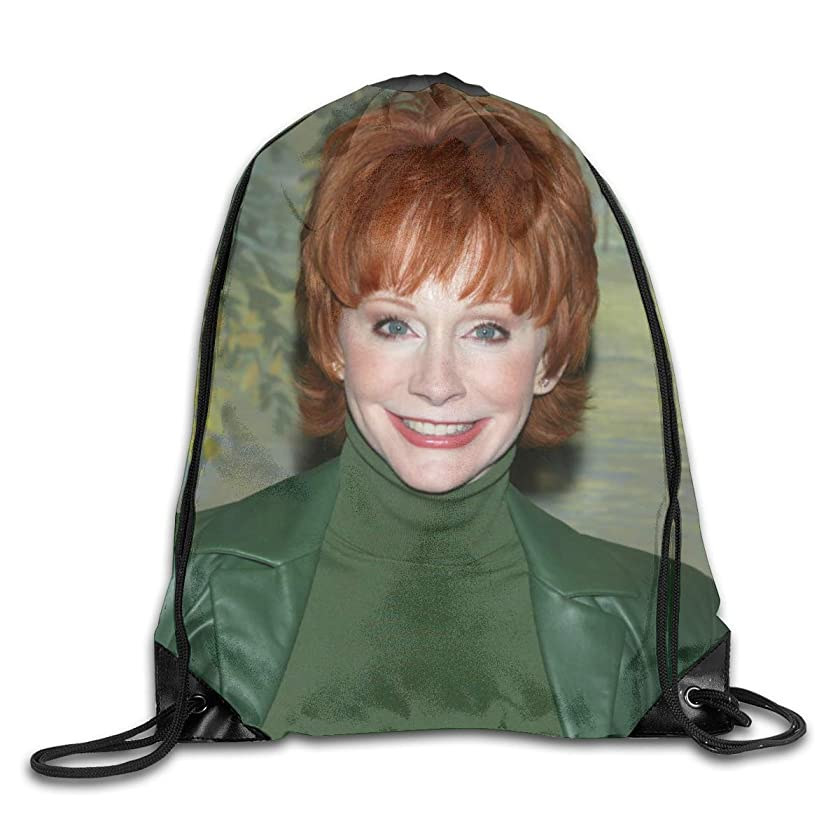 X Q X Men Women Brave Reba?Singer McEntire Gym Drawstring Drawstring Backpacks Shoulder Bags Sport Sack Backpack for Home Travel Exercise