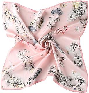 CXBHB Sciarpa donna 100/% seta primavera e autunno 100/% sciarpa in seta pianura crepe europea e americana