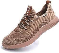 Mitudidi Chaussures de Sécurité Homme Basket de Sécurité Chaussures de Travail Femme Embout Acier Protection Chaussures po...