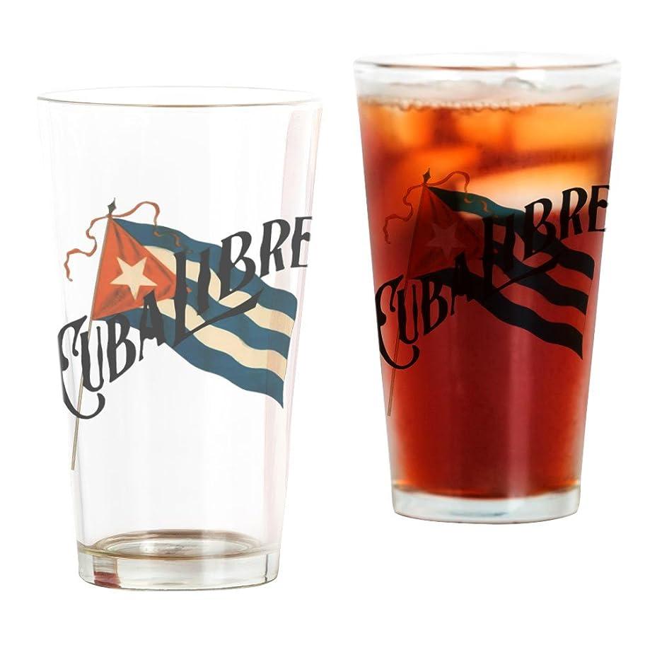 祈る硬い達成CafePress?–?Cuba Libre?–?パイントガラス、16オンスDrinkingガラス クリア 055495482633332