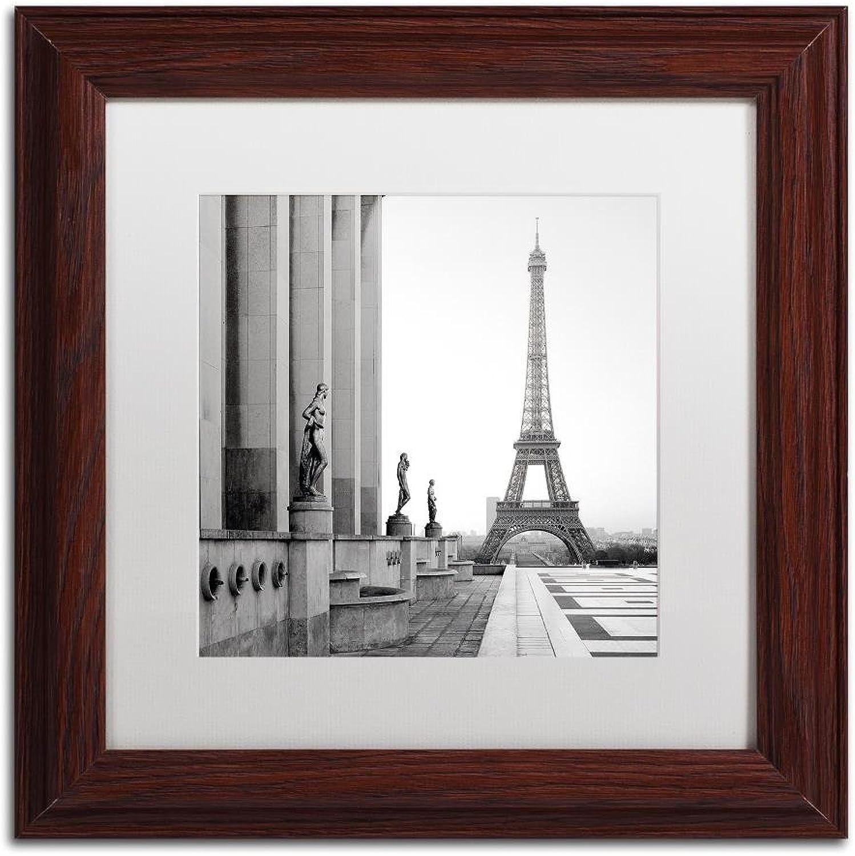 Trademark Fine Art Tour Eiffel 5 by Alan bluestein, White Matte, Wood Frame 11x11
