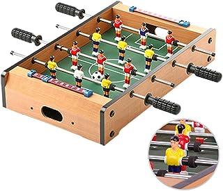 Zgifts Juegos de Mesa de futbolín de Mesa - 51 cm Cuatro Postes Madera Mini Mesa portátil Fútbol Juego de Deportes Juego de Sala Deportes para el hogar Fiesta Adultos Niños