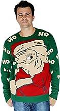 Morph Men's Digital Dudz Peeking Santa Ugly Christmas Sweater