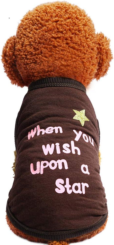 Huayue Dog TShirt Printed Letter Vest Pet Bout Neck Shirt (color   As Shown, Size   L)