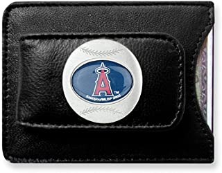 ICE CARATS MLB Siskiyou Buckle L.a. Angels Leather Money Clip Man Fashion Jewelry Gift for Dad Mens for Him