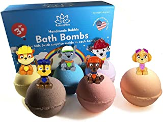 Organic Bath Bombs For Kids with Surprise Inside LITTLE PUPPY TOYS – Natural and Safe Bubble Bombs with Essential Oils - Bath Bombs Toys Inside – Great Gift Set for Boys and Girls Handmade in USA