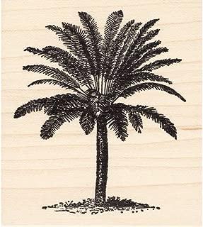 Bushy Palm Tree Rubber Stamp