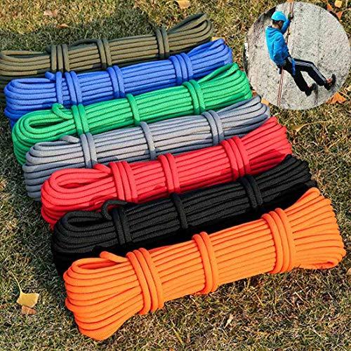 Tuzi Qiuge Kletterseil im Freien, hochfester Hilfsseil Safety Seil zum Wandern Klettern Klettern, Größe: 10m * 8mm, zufällige Farbe QiuGe