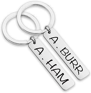 A. Ham A. Burr Alexander Hamilton Broadway Musical Inspired Keychain Friendship Keychain Aaron Burr Musical Theatre Gift