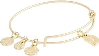 Alex and Ani Initial D III Bangle Bracelet Shiny Gold One Size, A20EBINT04SG