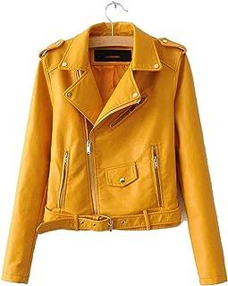 Stevenurr jackets Leather Jacket Women Zipper PU Leather Jacket Ladies Basic Street Coat