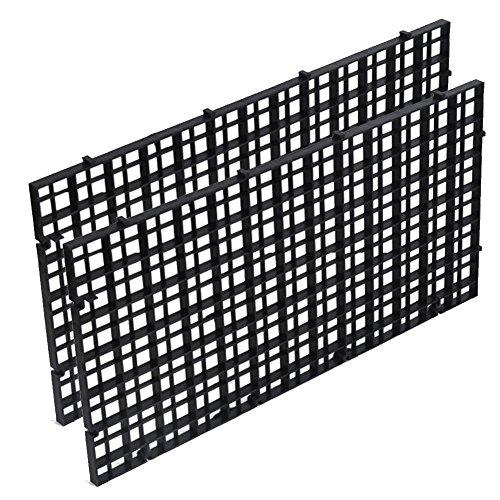 Isolate-Board für Aquarien, 2 Stück, Kunststoff-Gitter-Trennwand, Kistenfilter, Bodenisolierung, transparent, schwarz (schwarz)