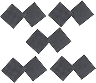 Healifty Non-Skid Shoe Pads Adhesive Sole Grips High Heel Shoe Square Soles Stickers for Shoes Skid Proof Sole Stick Protector 5 Pairs (Black)